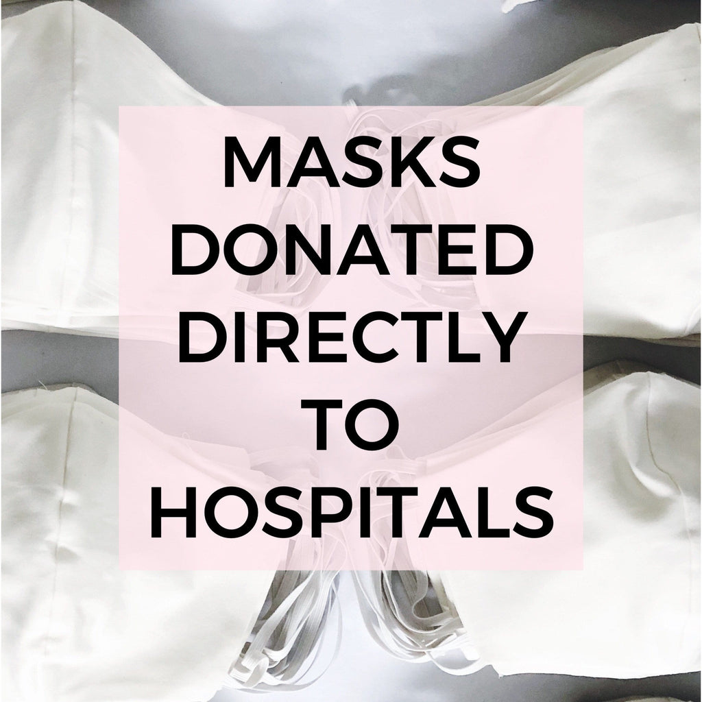 LOOK GOOD DO GOOD Donation of two masks DIRECTLY to hospitals!