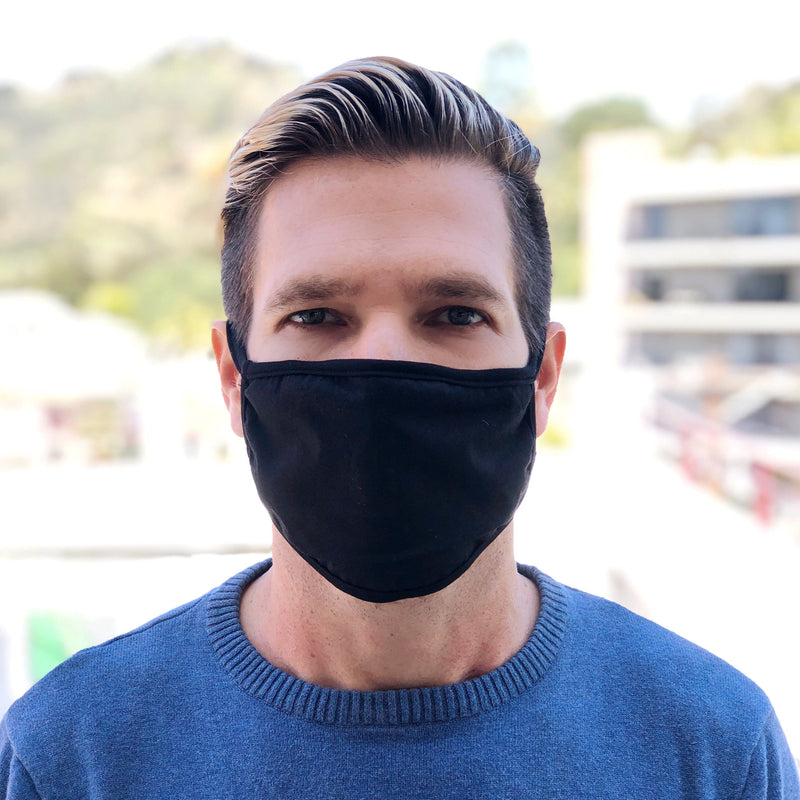 LOOK GOOD DO GOOD Black Active Mask 3-Pack