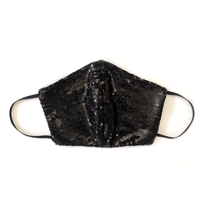 LOOK GOOD DO GOOD Black Sequin Mask - Adult