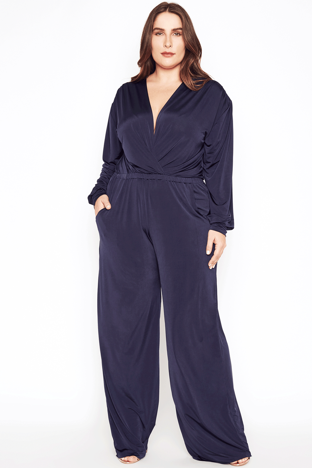 Navy Jumpsuit - Long Sleeve
