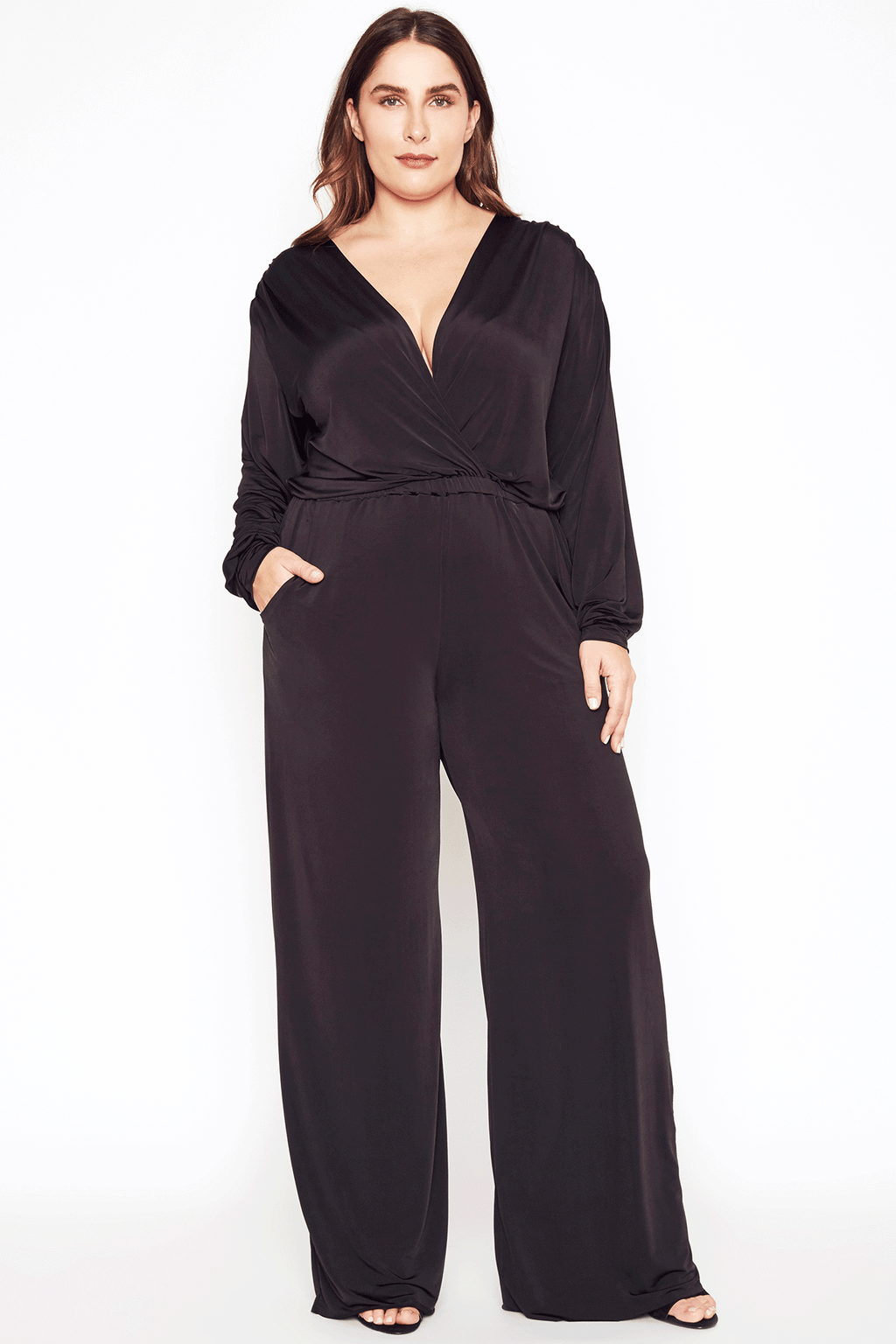 Black Jumpsuit - Long Sleeve