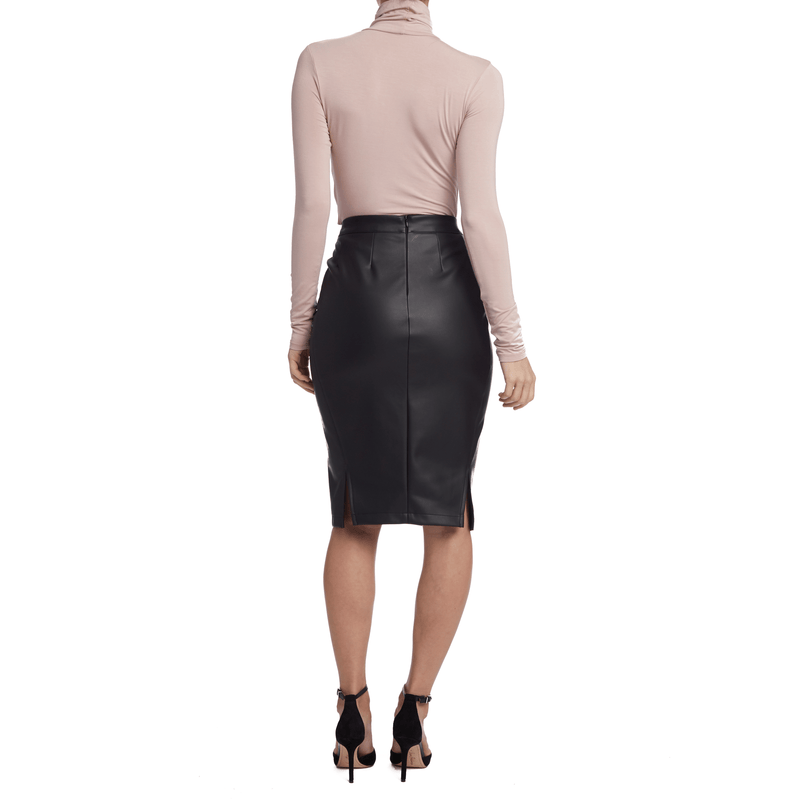 Vegan Leather Pencil Skirt
