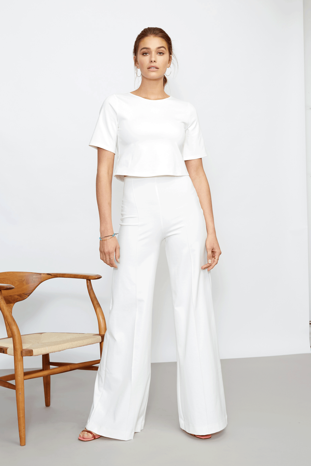 Off-White Wide Leg Pant