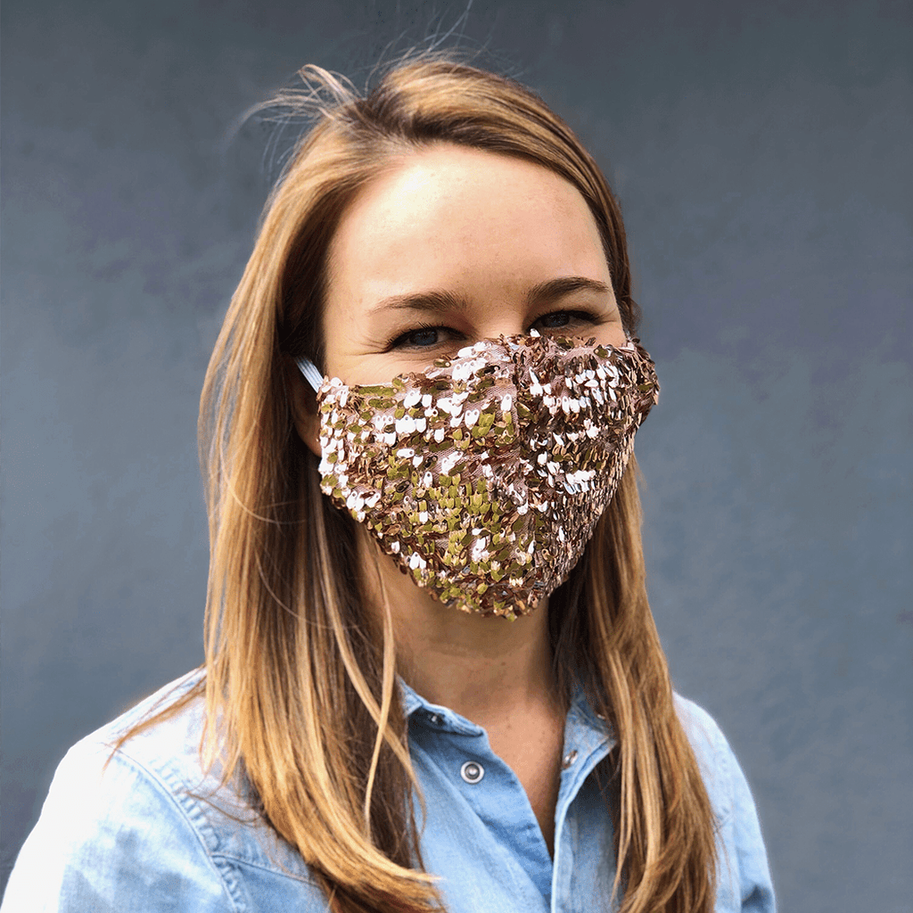 LOOK GOOD DO GOOD Rose Sequin Mask - Adult