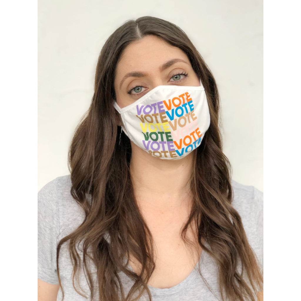 LOOK GOOD DO GOOD White VOTE Mask 3-Pack