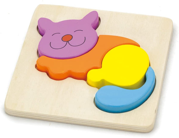 "Shape Block Puzzle "" Cat"" 