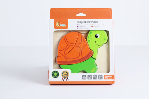 "Shape Block Puzzle "" Tourtle "" 