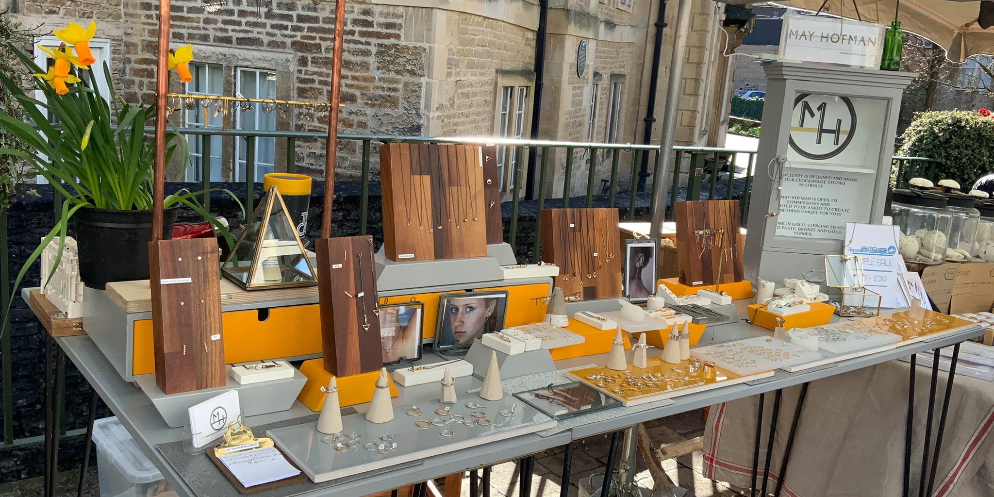 May Hofman jewellery design at frome market