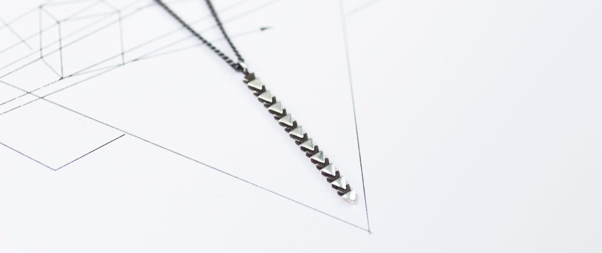 Tri line necklace by may hofman jewellery