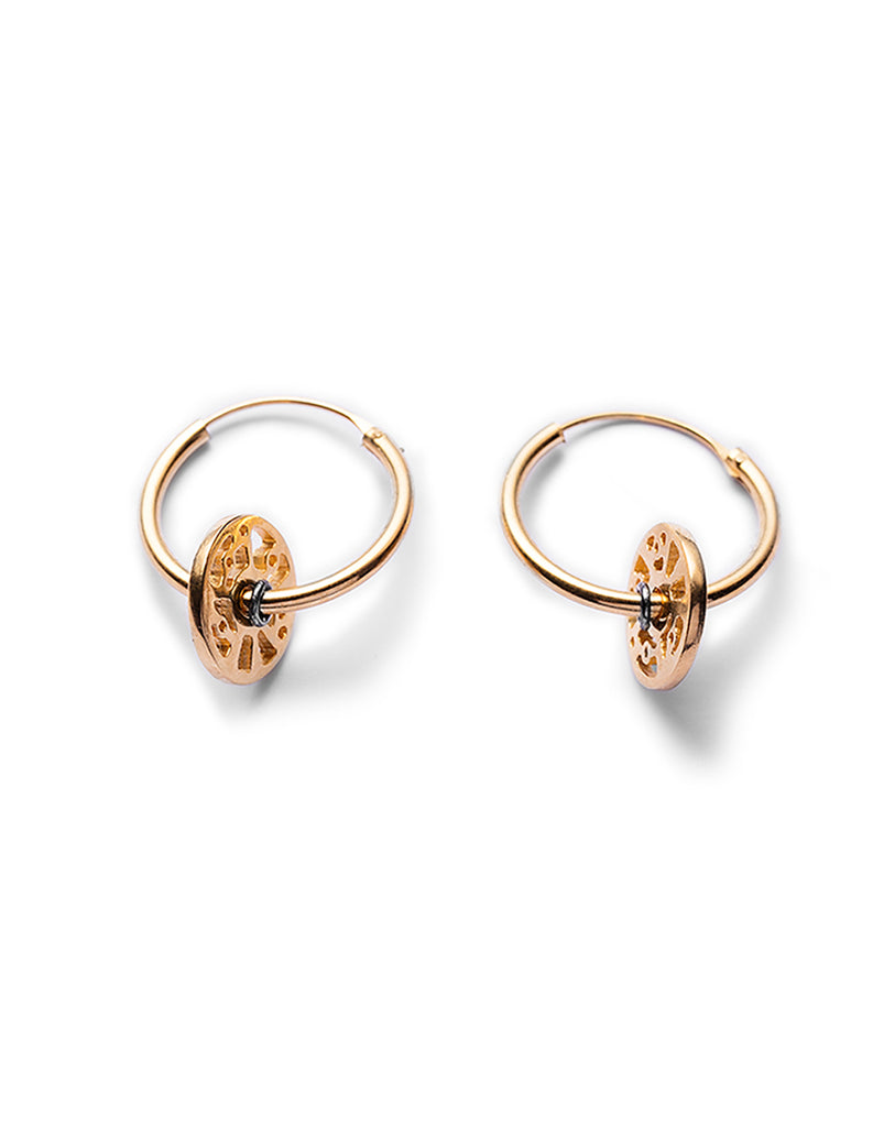 Gold Cell Hoops By May Hofman Jewellery