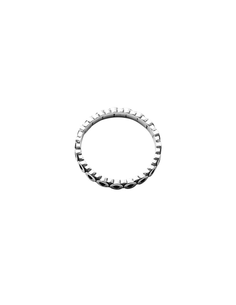 Silver Circ line Ring By May Hofman Jewellery
