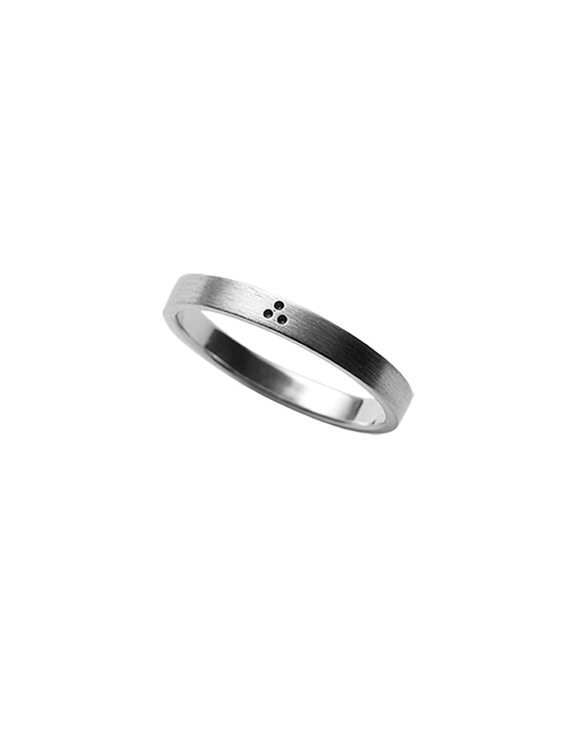 Silver Dot Ring by May Hofman Jewellery