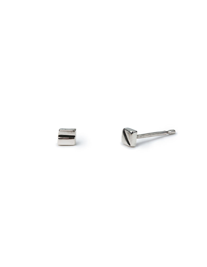 silver square studs may hofman jewellery