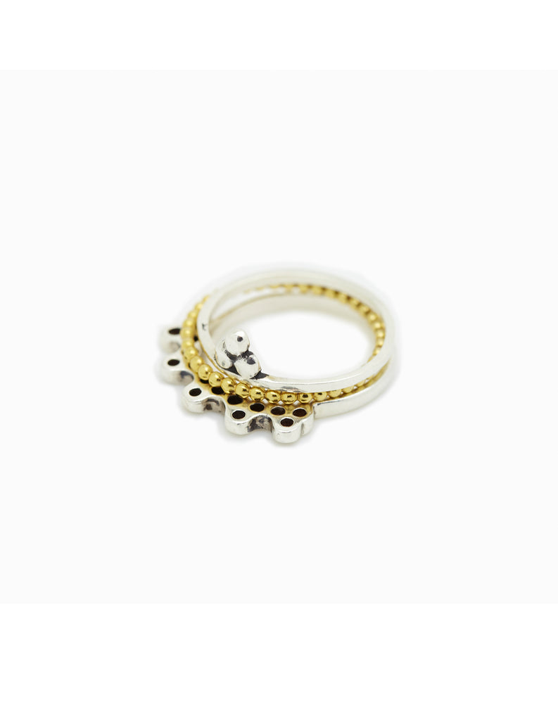 India, Halo and Om Stacking Rings may hofman jewellery