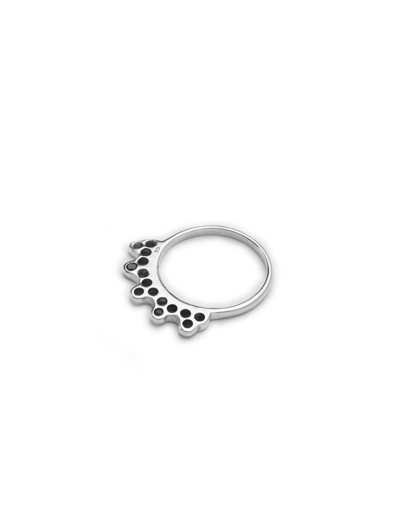 silver india ring may hofman jewellery