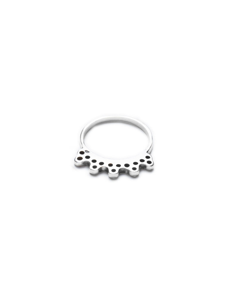 Silver india ring by may hofman jewellery