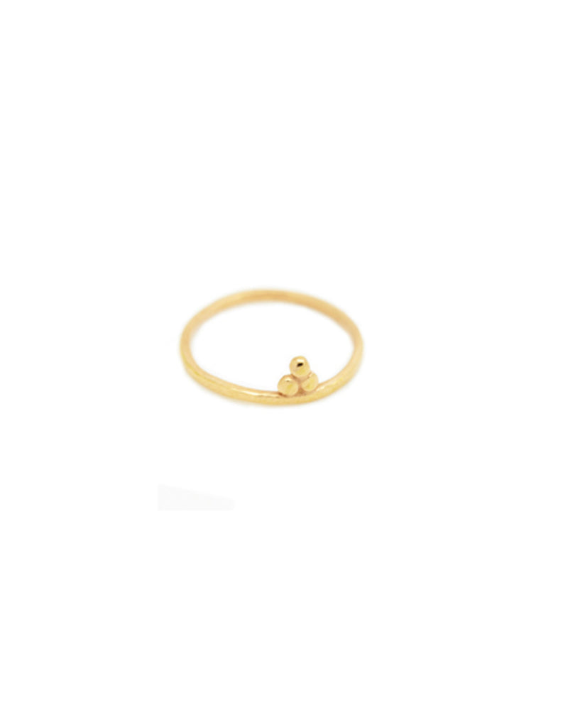 Gold little om ring  by may hofman jewellery
