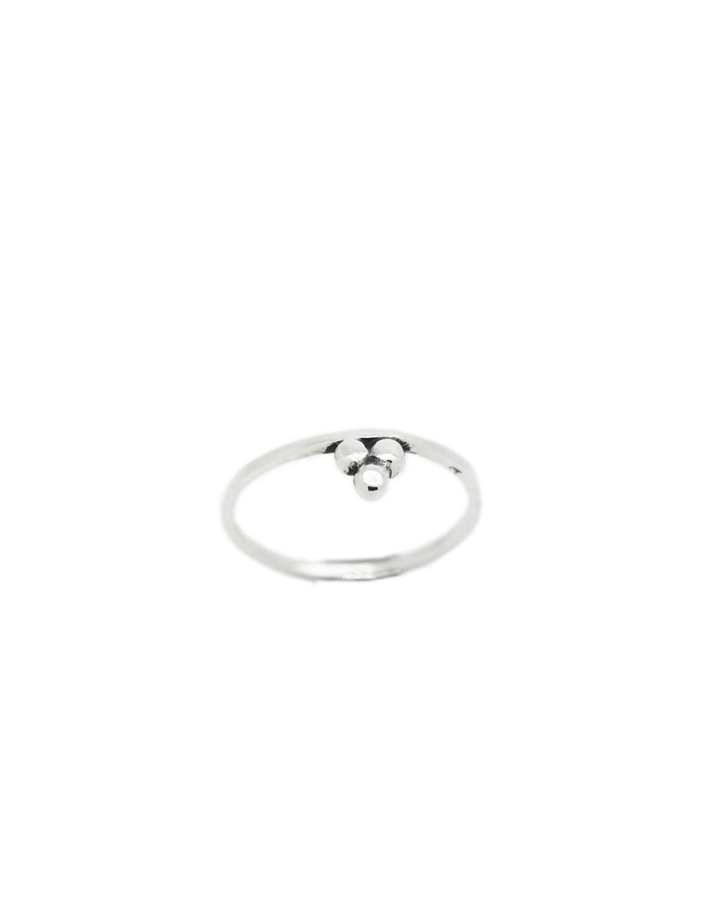 silver om and stacking ring may hofman jewellery