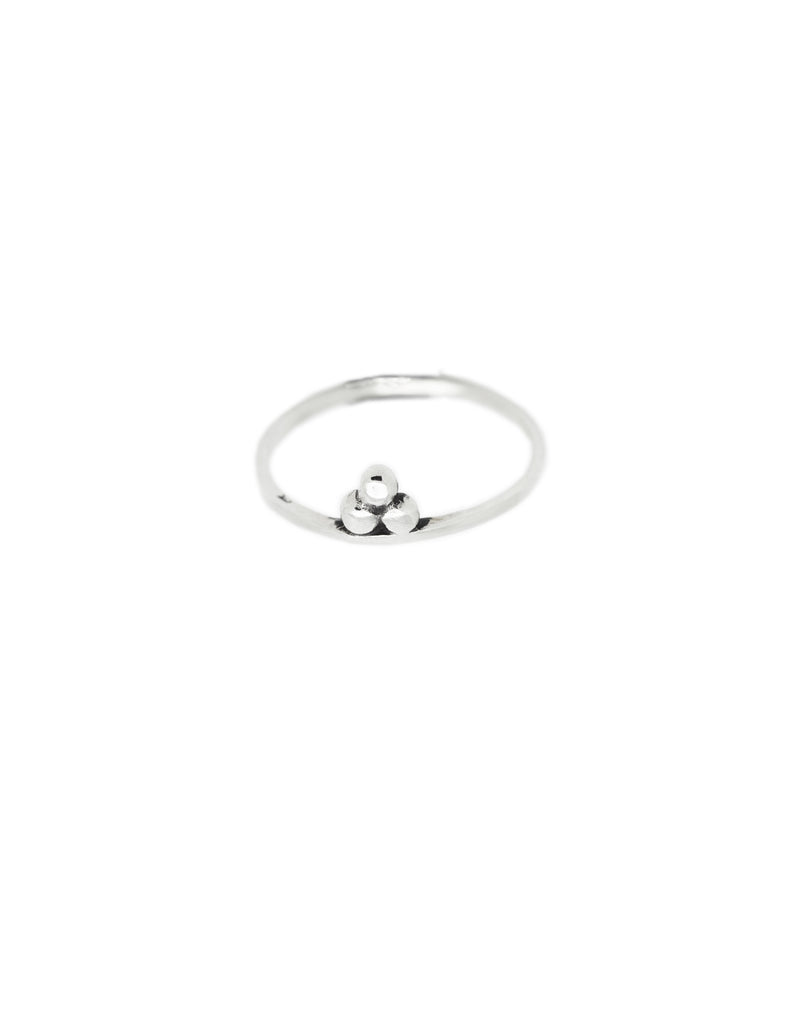 silver om ring by may hofman jewellery