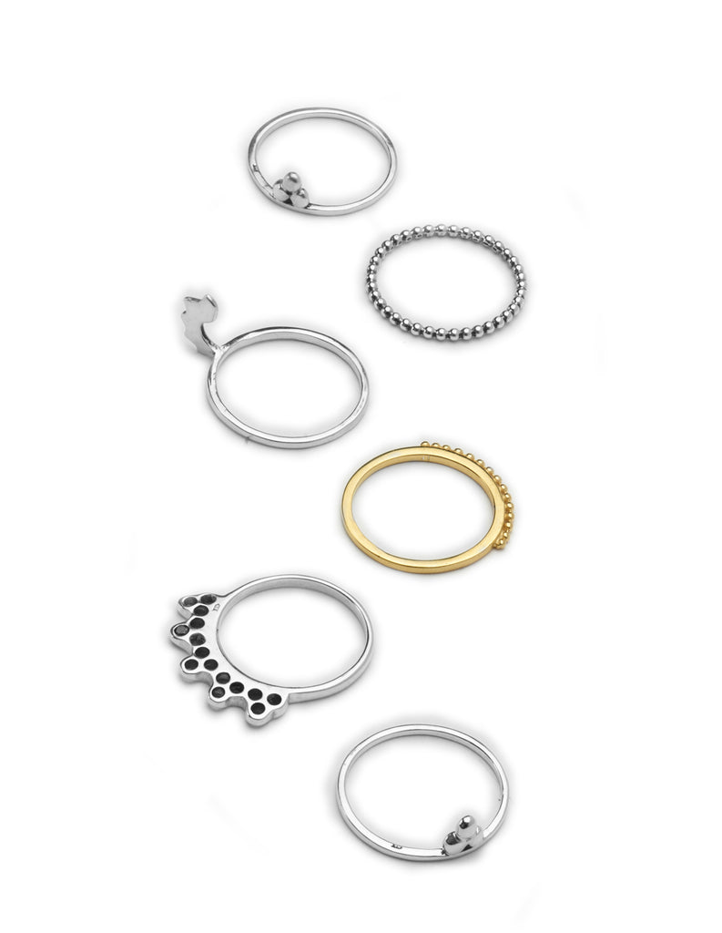 stacking rings collection by may hofman jewellery