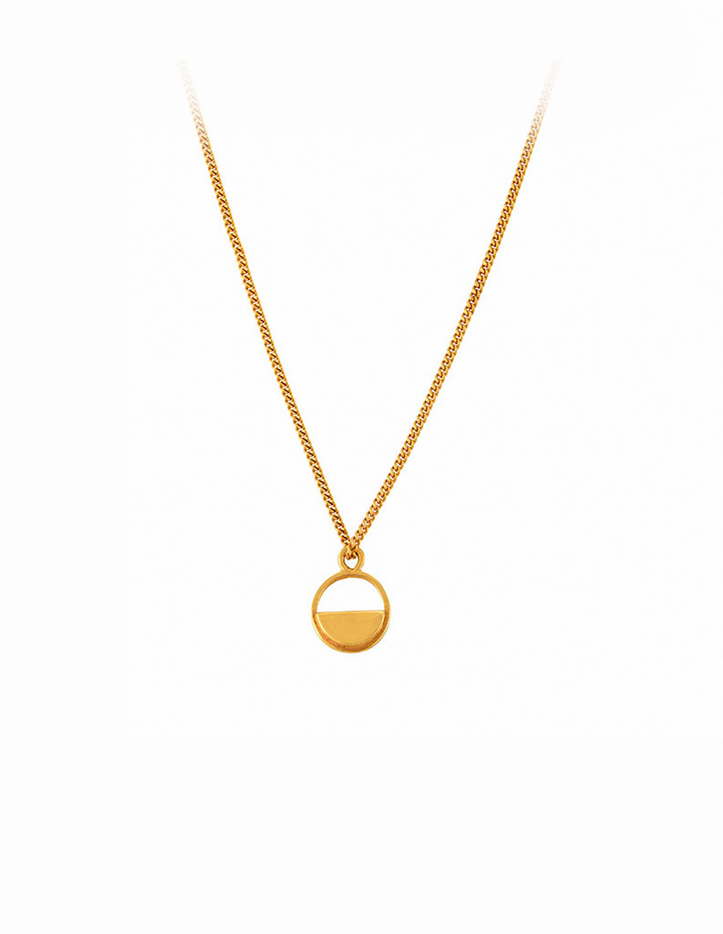 Gold Semicircle necklace by may hofman jewellery