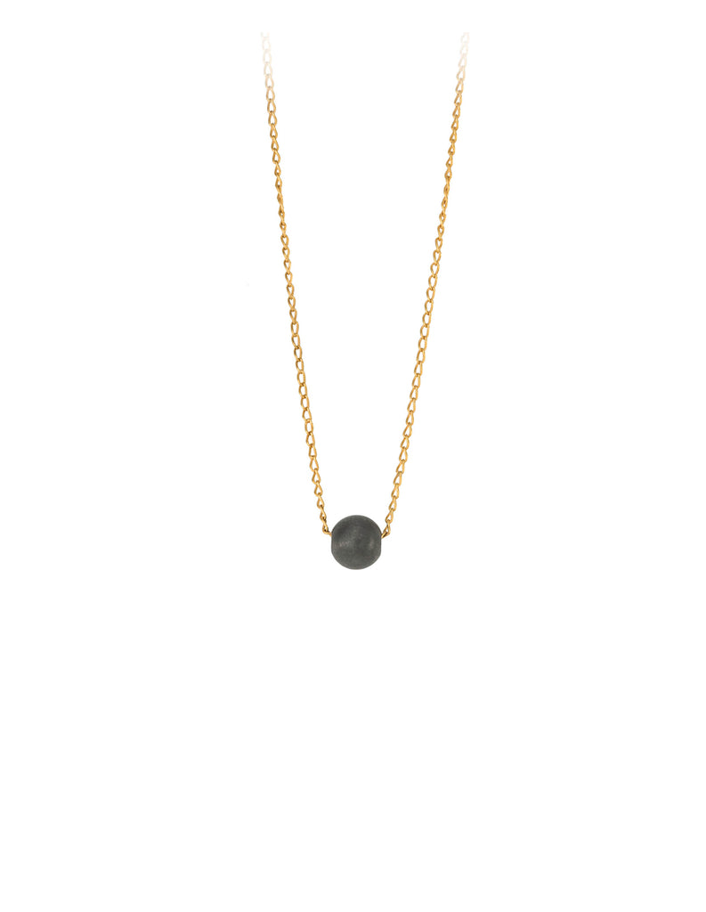 black sphere necklace by may hofman jewellery