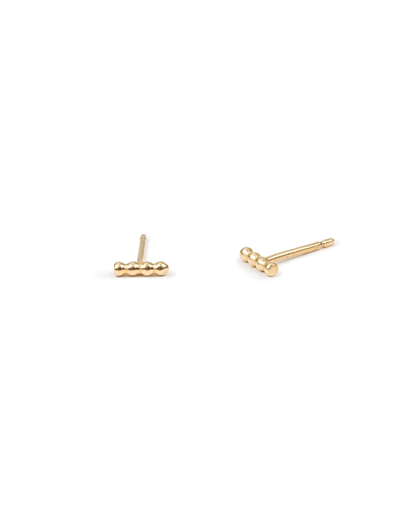 Gold Tiny Halo Studs