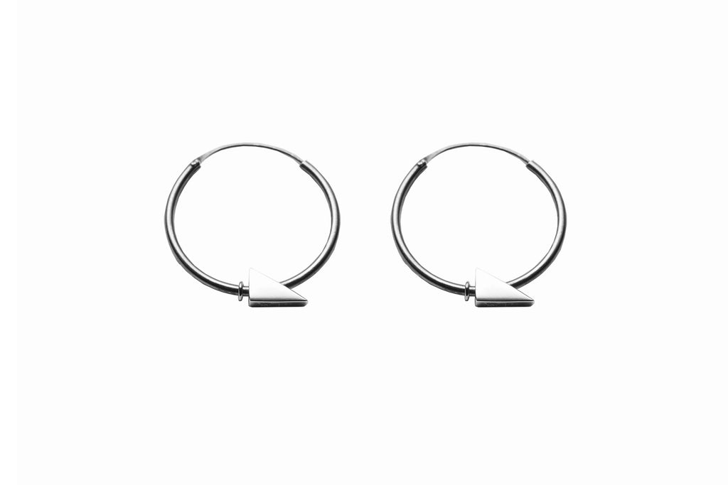 Silver trig hoops by May Hofman Jewellery