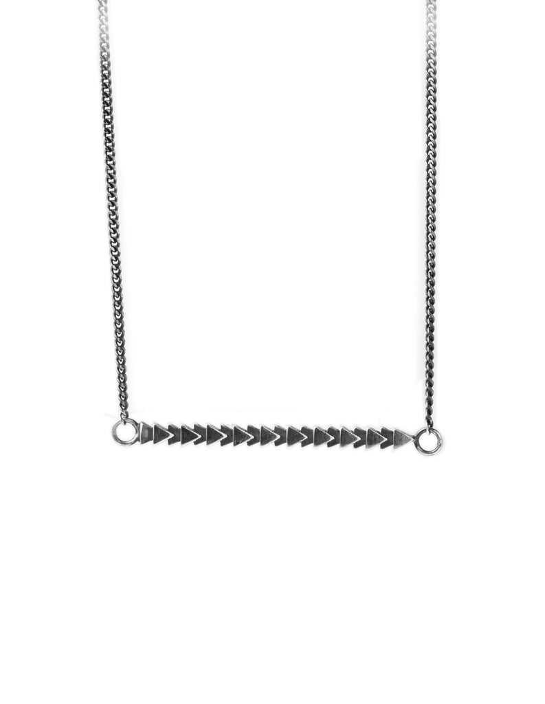 Silver tri line necklace by may hofman jewellery