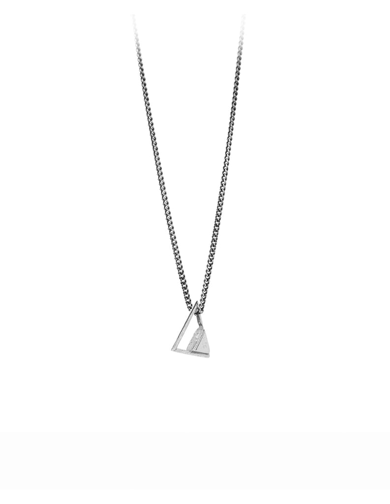 Silver tri Necklace by May Hofman Jewellery