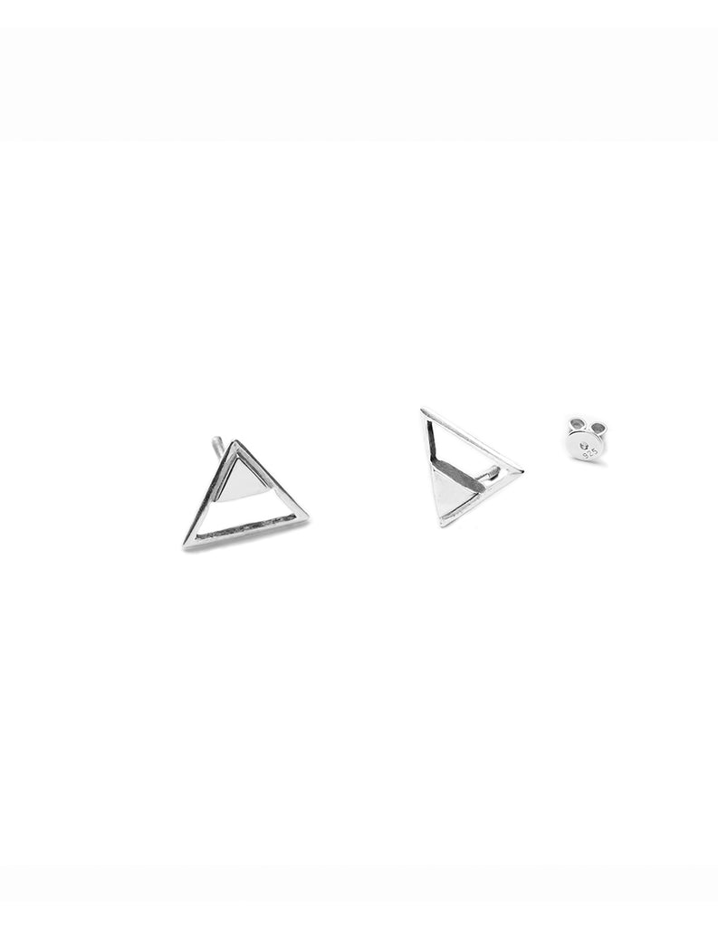Silver Tri stud by May Hofman Jewellery