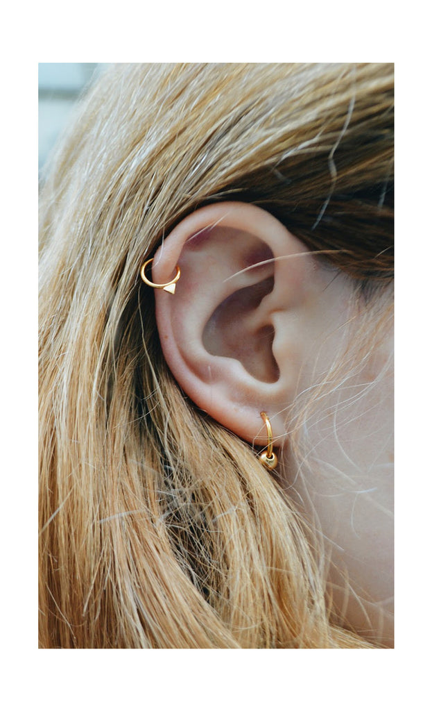 Cartilage piercing hoop by May Hofman Jewellery
