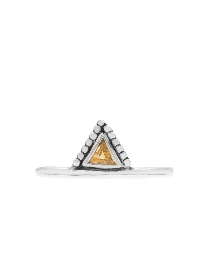 golden triangle ring by may hofman jewellery