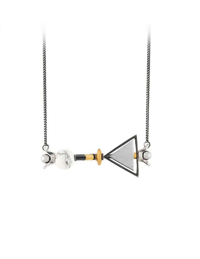 mega Triangle necklace by may hofman jewellery