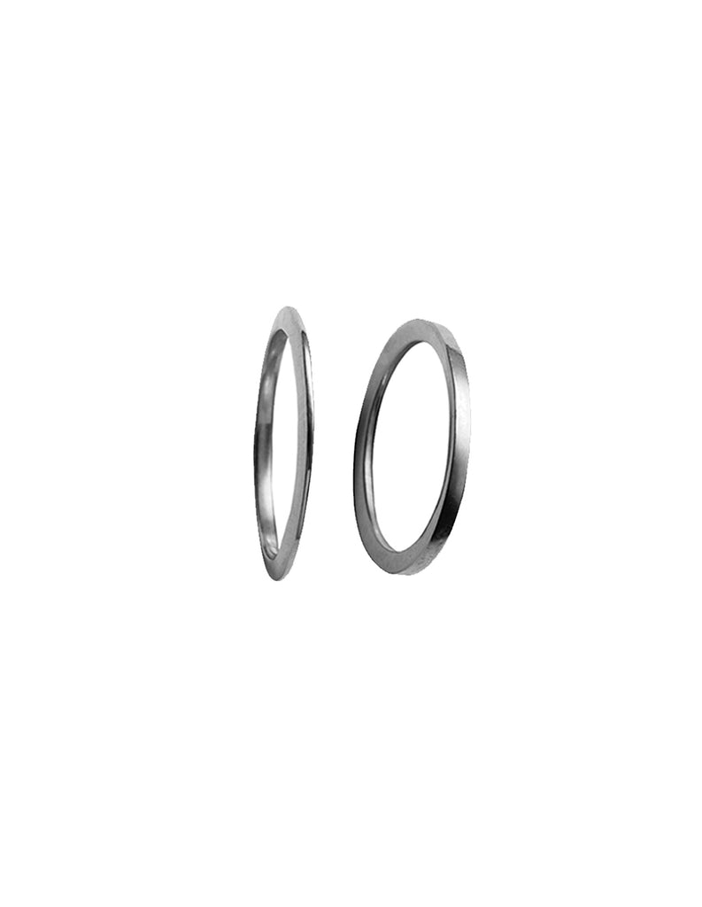 Silver X & Y Ring by May Hofman Jewellery