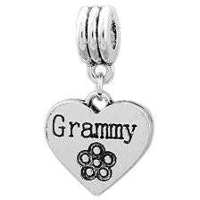 European Charm Metal Bead Word Charm Grammy - Beads and Dangles