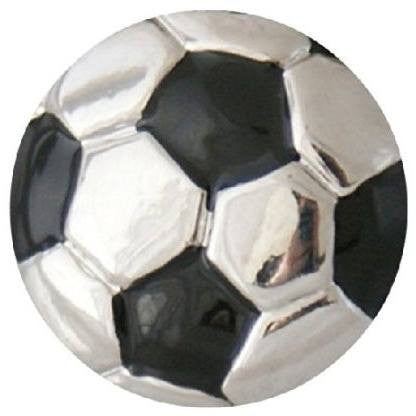 Chunk Snap Charm Soccer Ball 20mm - Beads and Dangles