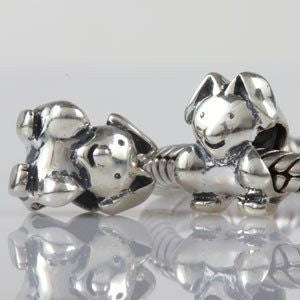 European charm sterling silver bead rabbit - Beads and Dangles
