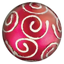 Painted Enamel Christmas Tree Ornament Pink 20mm
