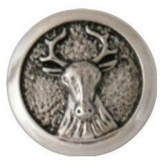 "Chunk Snap Charm Moose 20 mm 3/4"" Diameter - Beads and Dangles"