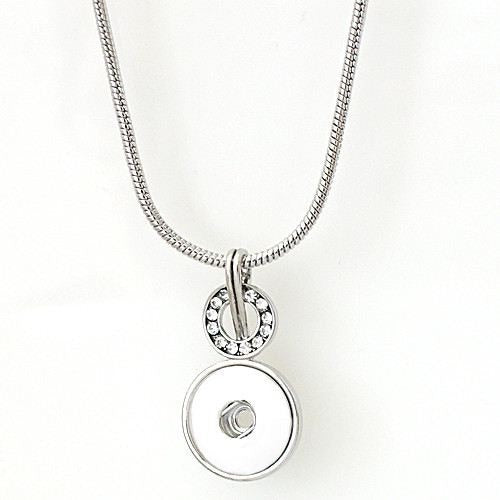 "Snap Charm Pendant Necklace 17"" Plus 3"" Extender for 1 Standard Snap - Beads and Dangles"