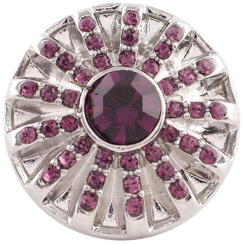"Chunk Snap Charm Birthstone Interchangeable Jewelry Snaps 20mm 3/4"" Diameter - Beads and Dangles"