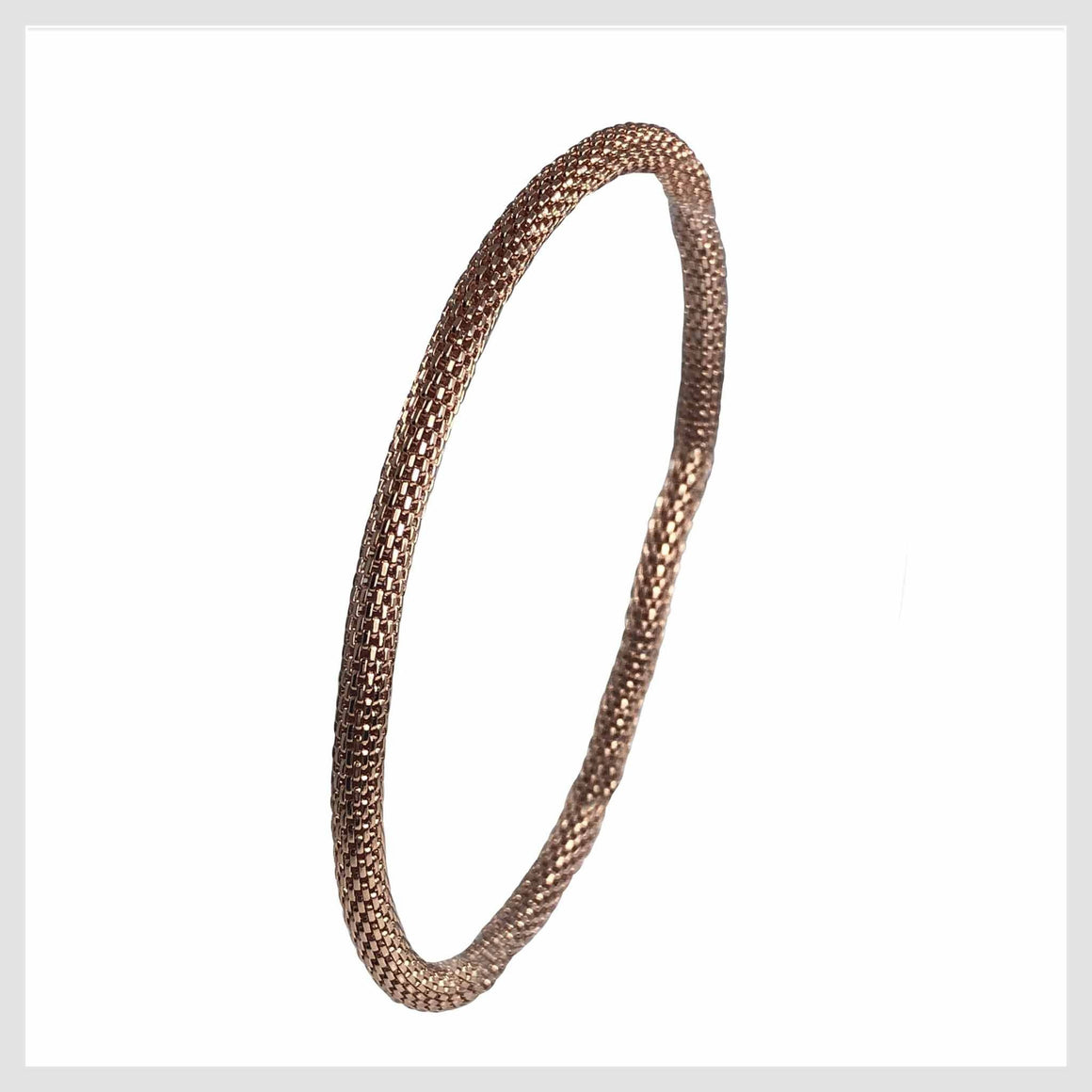 Rose Gold Plated Mesh Chain Stretch Bracelet 4MM