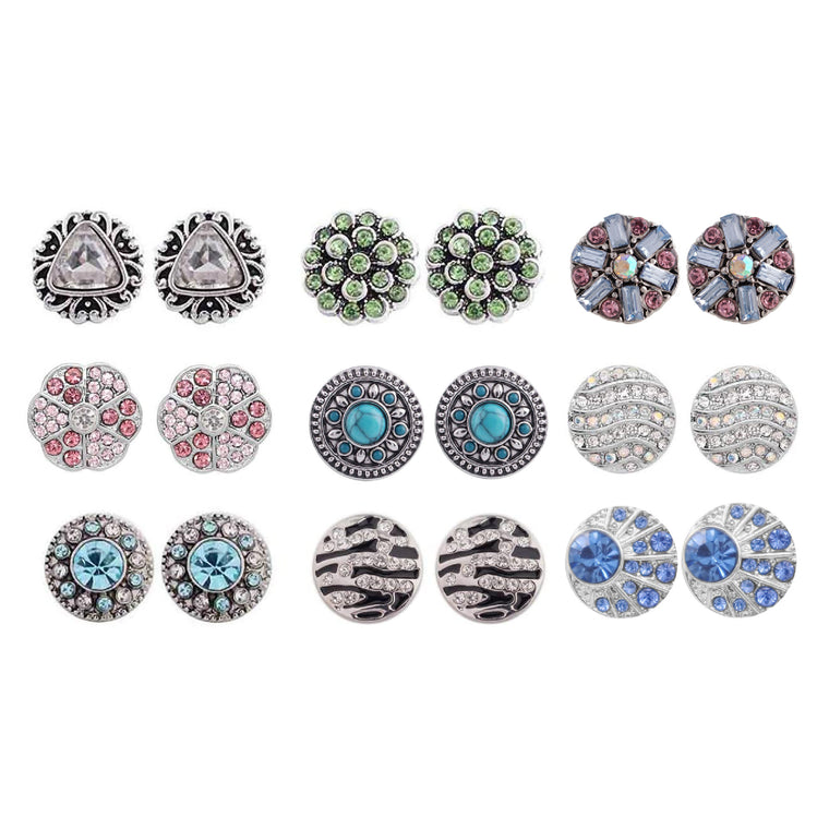 Mixed Set 3 Pairs 12mm Mini (SET-2)