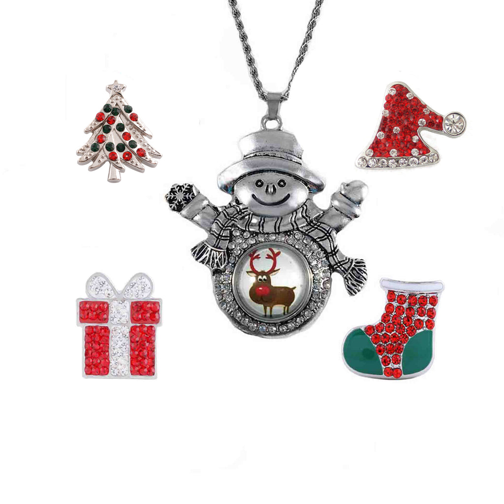 Christmas Set Snowman Pendant 20mm 3/4""