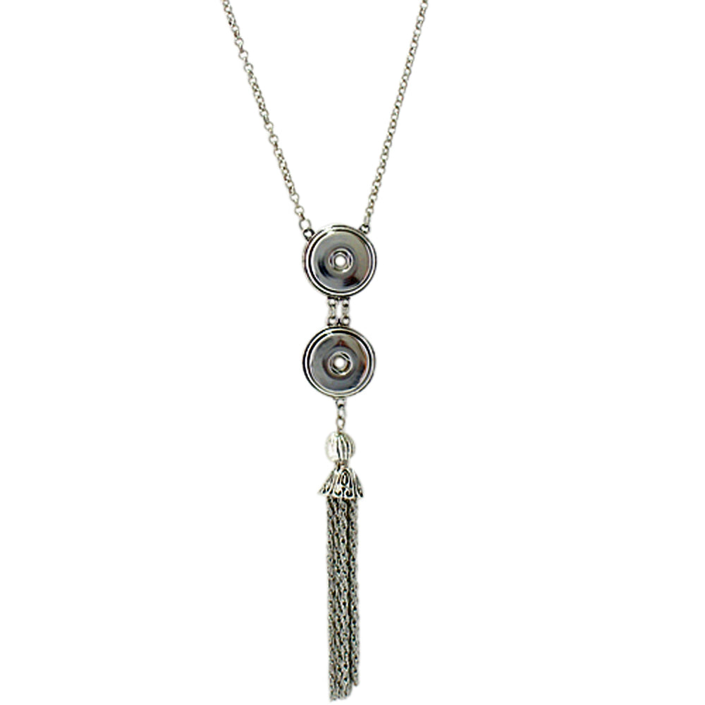 Snap Charm Tassel Necklace Standard Snaps Includes Chain Fits Ginger Snaps