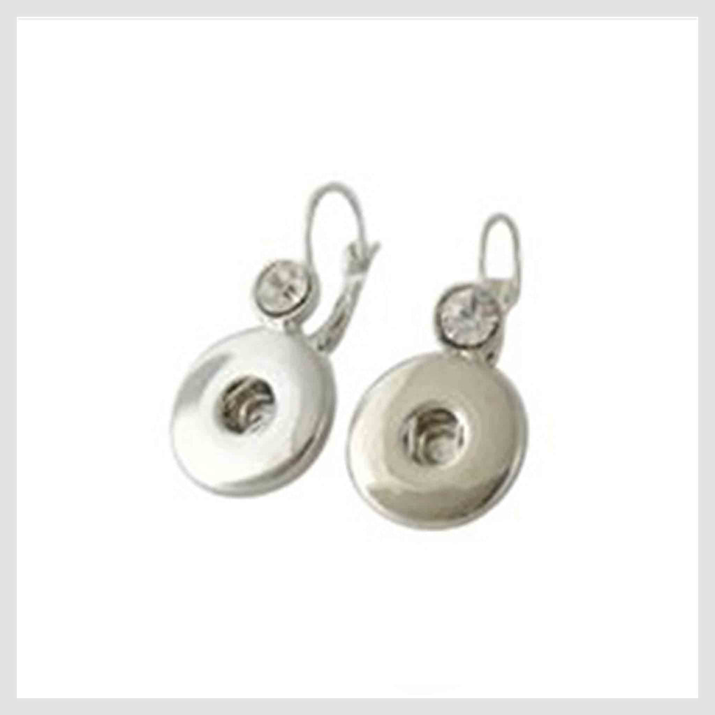 "Earrings Clear Stones 20mm 3/4"" - Beads and Dangles"