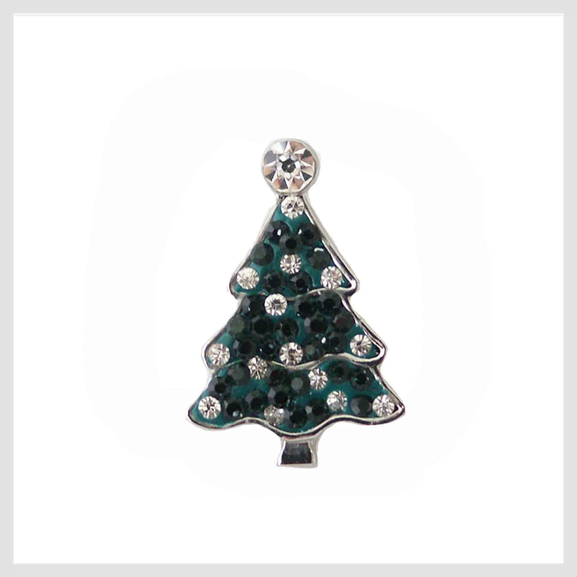 "Christmas Tree Green Crystals 20mm 3/4"" - Beads and Dangles"