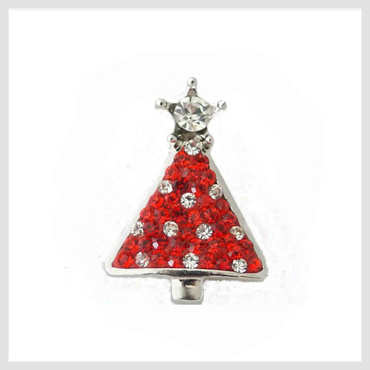 "Christmas Tree Red 20mm 3/4"" - Beads and Dangles"