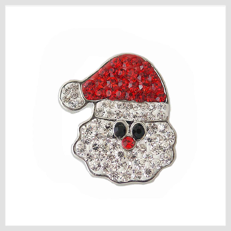 "Christmas Santa Claus Face Red Hat 20mm 3/4"" - Beads and Dangles"